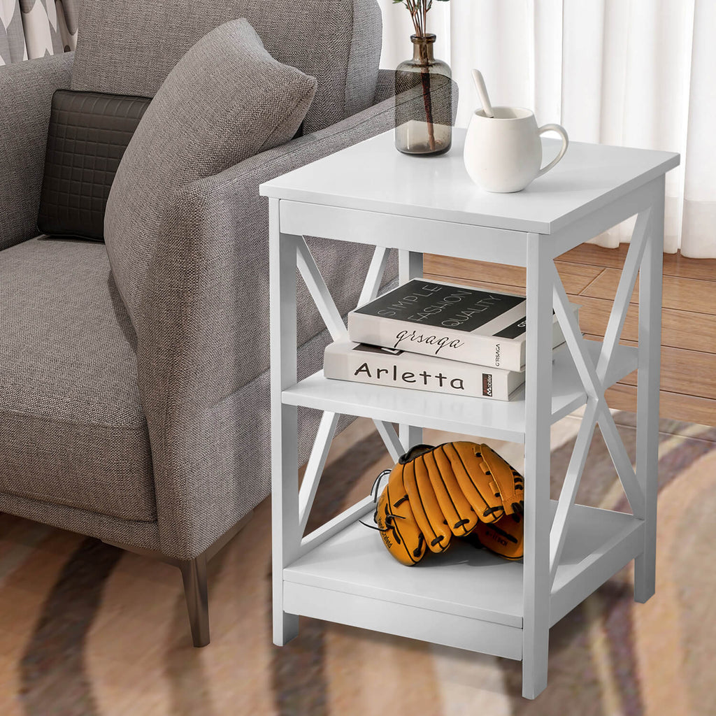 Side Table with 3 Tiers 40x40x61CM