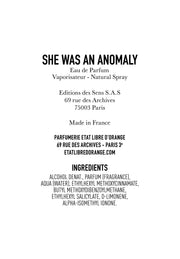 SHE WAS AN ANOMALY