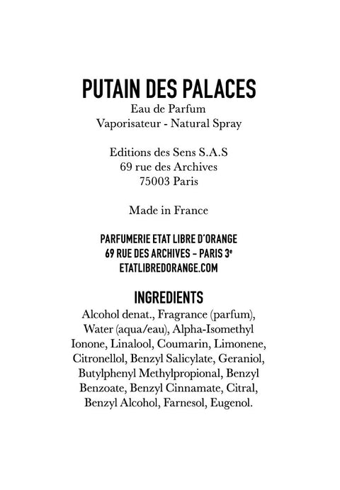 PUTAIN DES PALACES