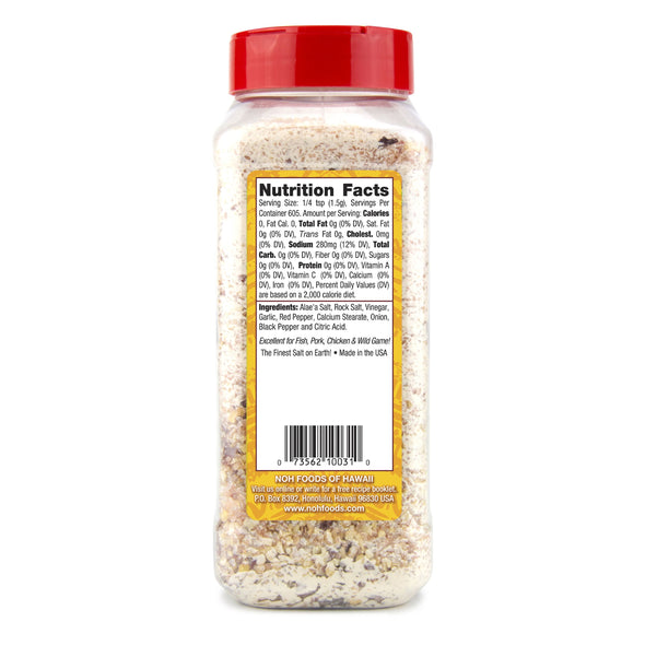 Garlic Herb Hawaiian Sea Salt - Large Bottle Nutrition Information