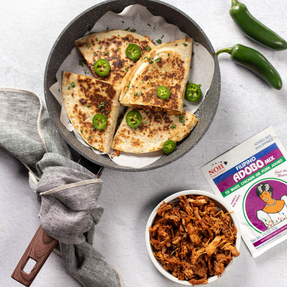 Filipino Adobo Chicken Quesadilla