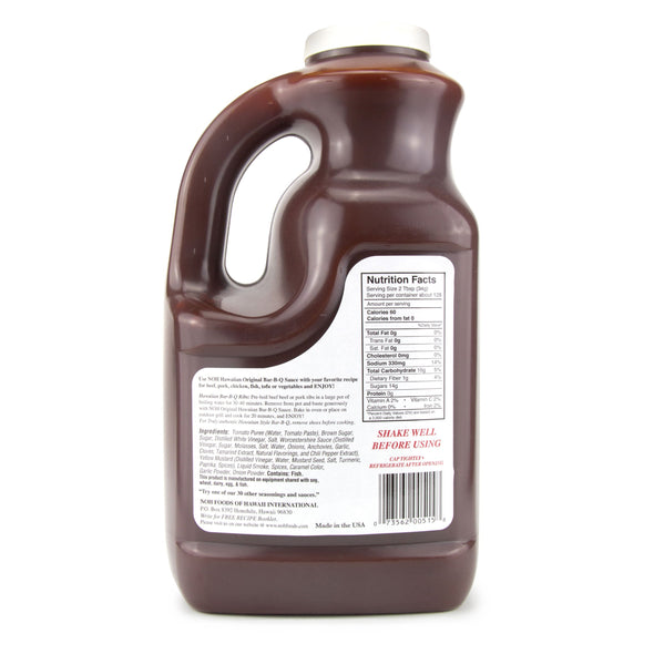 1 Gallon Hawaiian BBQ Sauce - Nutrition Information