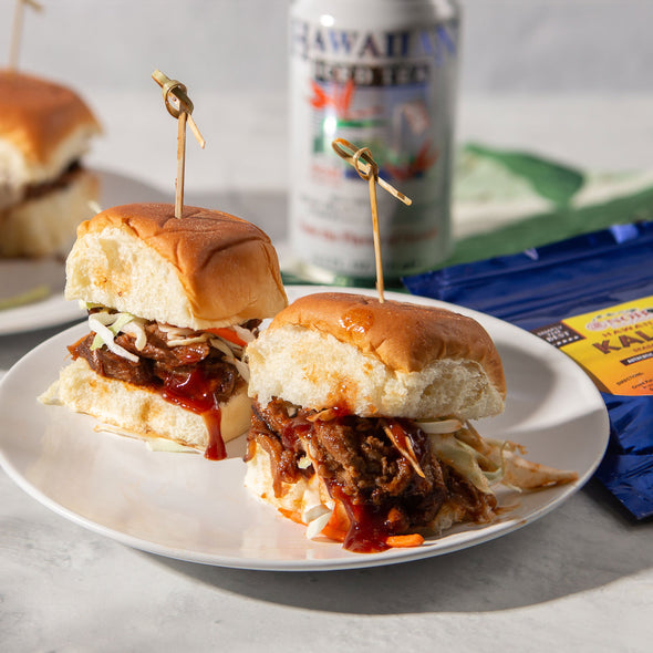 Hawaiian BBQ Pork Sliders with Kalua Seasoning Salt