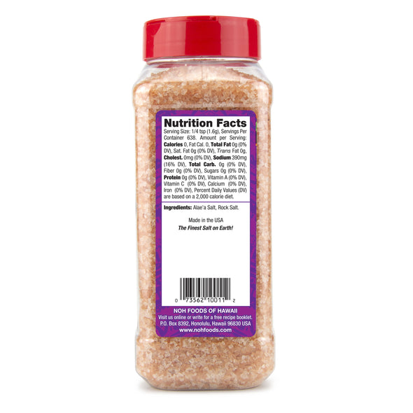 Original Hawaiian Salt - large bottle nutrition information