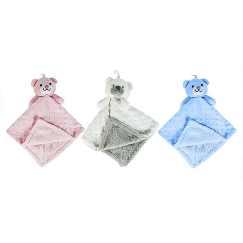 Bear dimple comforter with fleece lining