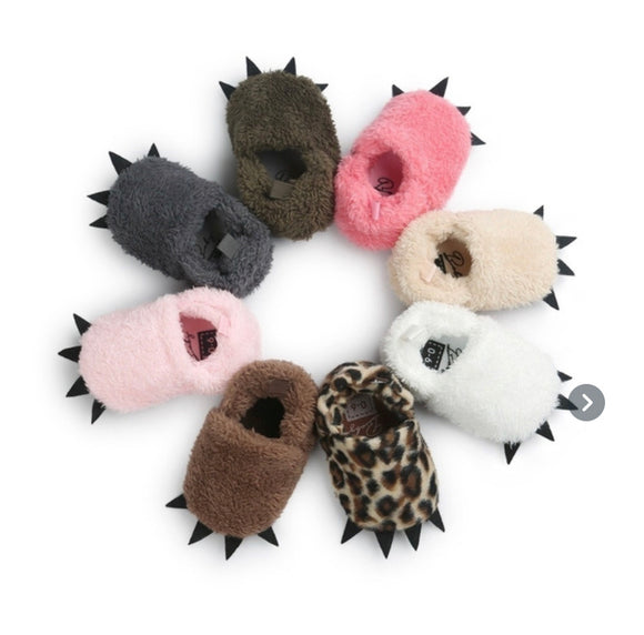 Snuggly animal non slip slippers