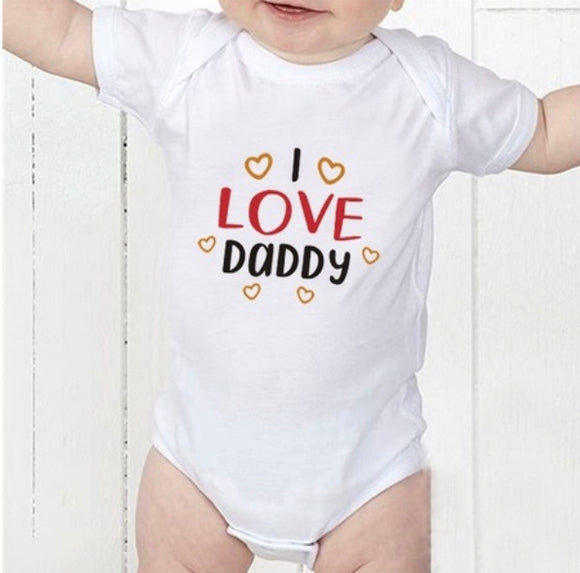 'I love Daddy' baby grow