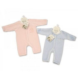 Incubator Velour Sleepsuit ' Tiny Prince/ Princess ' (1.8 & 2.5 Kg)