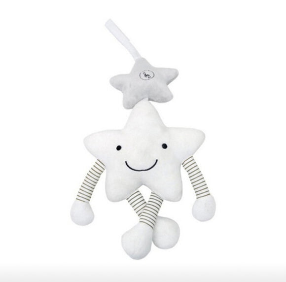 Musical plush hanging star