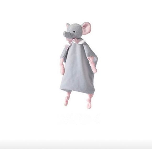 Little elephant baby comforter with rattle