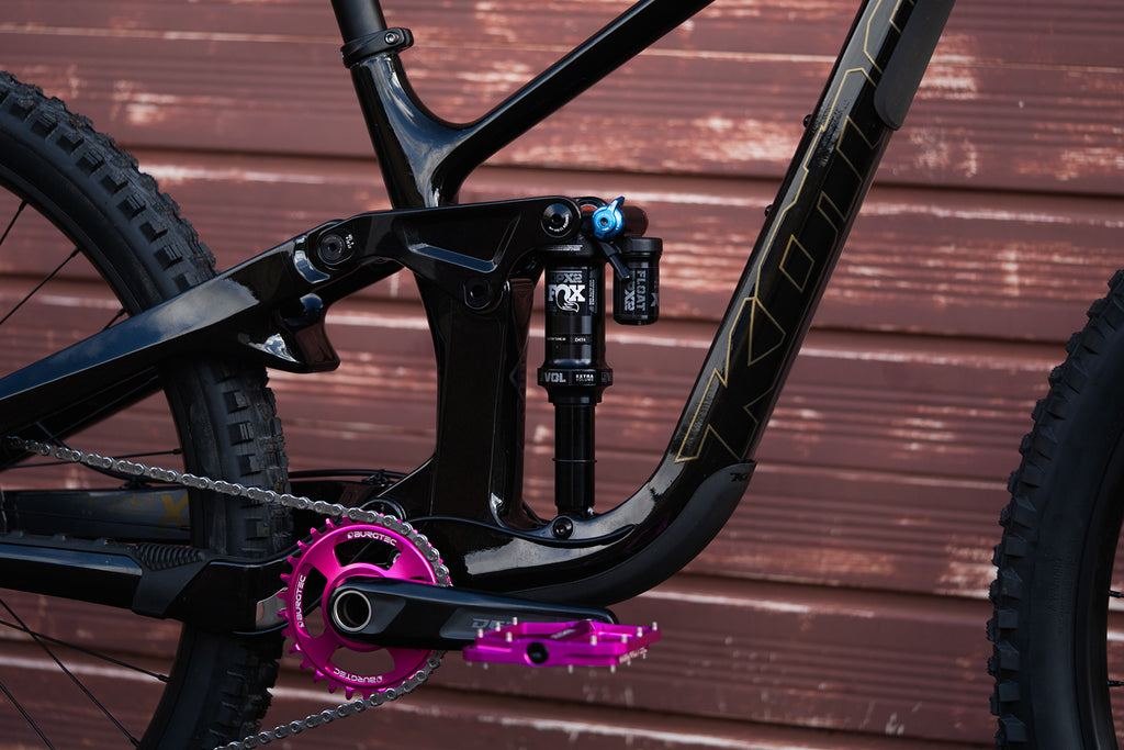 Burgtec Toxic Barbie Chainring and Pedals