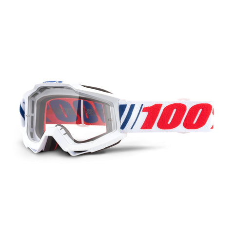 100Percent Accuri Youth Goggle White  Eye Protection at Tweed Valley Bikes the perfect pack for the Dirt School Kids Academy