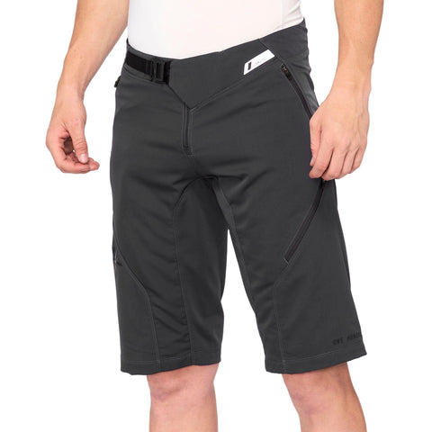 100Percent Airmatic Mountain Bike Short charcoal at Tweed Valley Bikes