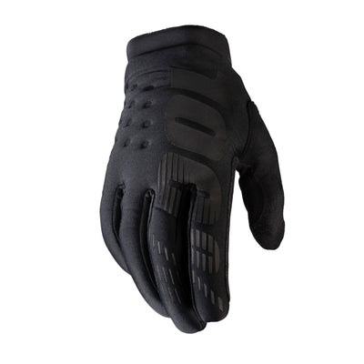 100% Brisker Cold Weather Glove in Black at Tweed Valley Bikes