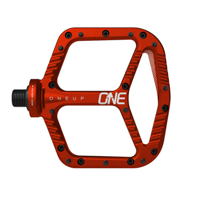 One Up Components MTB Aluminium Flat Pedal Red at Tweed Valley Bikes