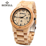 Waterproof Wooden Watch with Date Display
