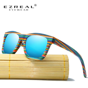 Polarized Rainbow Wooden Sunglasses