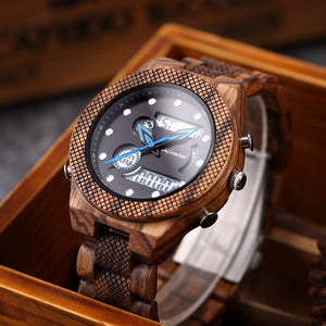 Classy LED Digital Wooden Watch