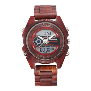 Luxury LED Digital Wooden Wristwatch