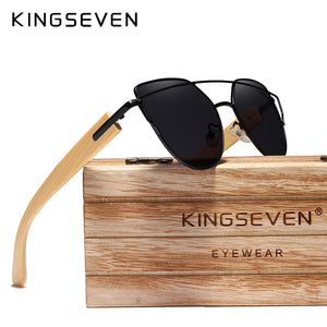 Stylish Cat Eye Wood Bamboo Sunglasses