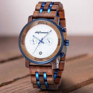 Luxury Chronograph Wooden Watch