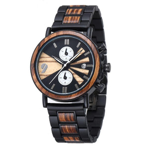 Fashionable Men Bamboo Wood Watch