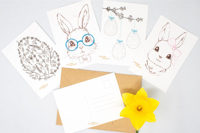 Early Days Easter Postcard Free Printable