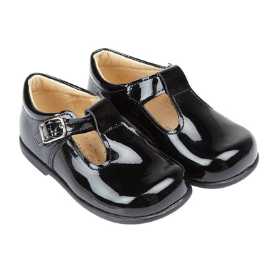 Early Days ALEX II in black patent - Early Days Baby and Toddler Shoes for Boys and Girls