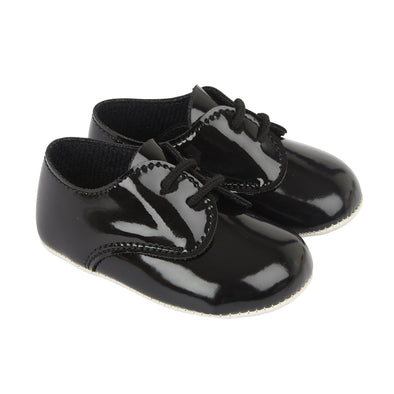 Baypods B010 in black patent - Early Days Baby and Toddler Shoes for Boys and Girls