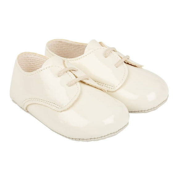 Baypods B010 in ivory patent - Early Days Baby and Toddler Shoes for Boys and Girls