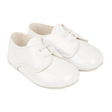 Baypods B010 in white patent - Early Days Baby and Toddler Shoes for Boys and Girls