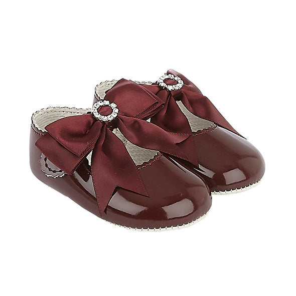 Baypods B060 in burgundy patent - Early Days Baby and Toddler Shoes for Boys and Girls