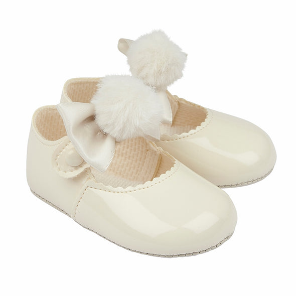 Baypods B066 in ivory patent - Early Days Baby and Toddler Shoes for Boys and Girls