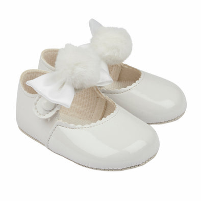 Baypods B066 in white patent - Early Days Baby and Toddler Shoes for Boys and Girls