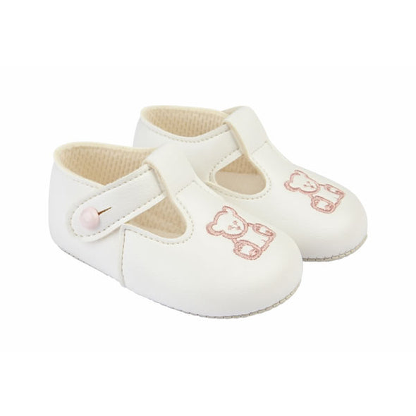 Baypods B117 in white/pink - Early Days Baby and Toddler Shoes for Boys and Girls