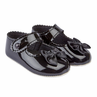 Baypods B604 in black patent - Early Days Baby and Toddler Shoes for Boys and Girls