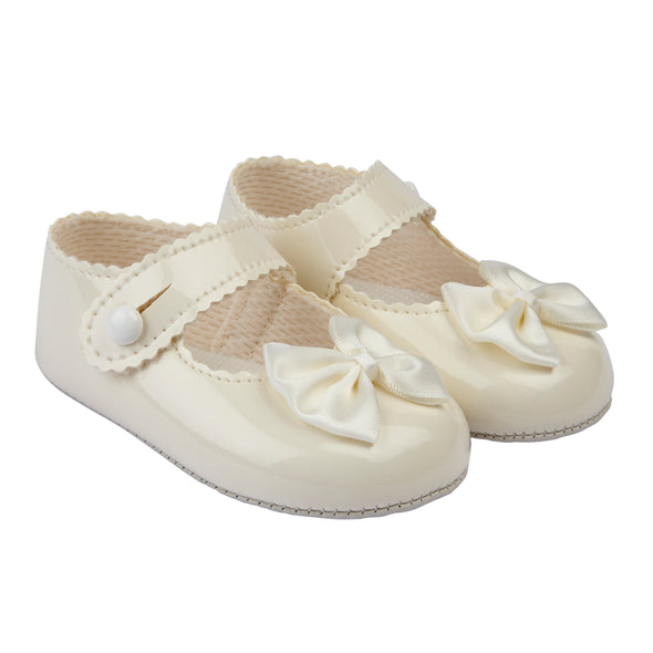 Baypods B604 in ivory patent - Early Days Baby and Toddler Shoes for Boys and Girls