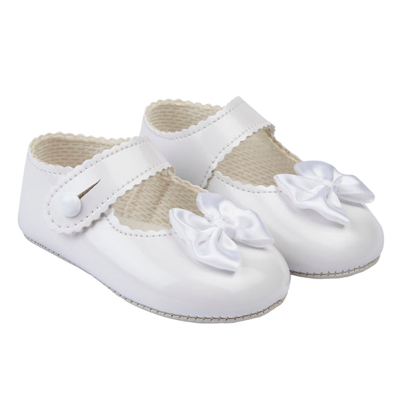 Baypods B604 in white patent - Early Days Baby and Toddler Shoes for Boys and Girls