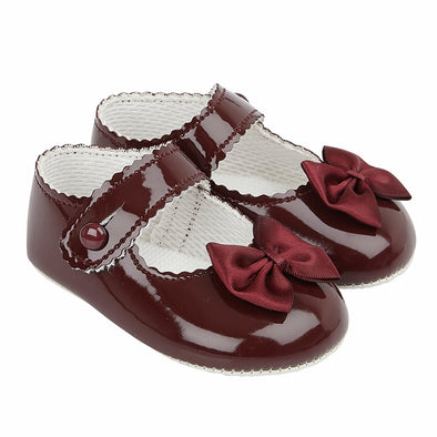 Baypods B604 in burgundy patent - Early Days Baby and Toddler Shoes for Boys and Girls