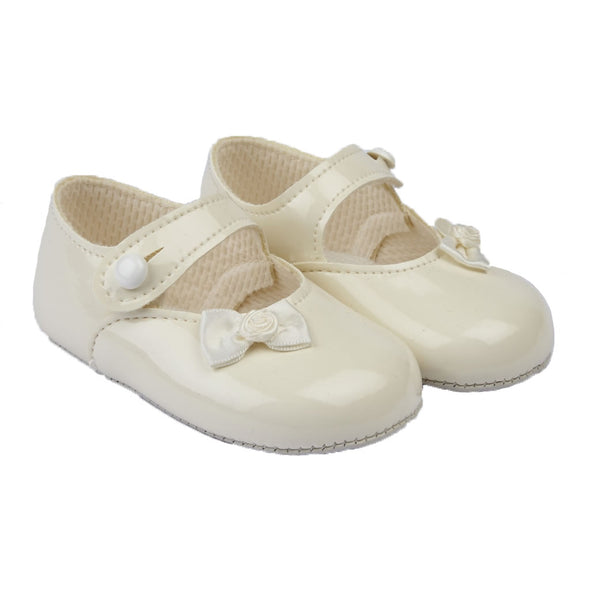 Baypods B616 in ivory patent - Early Days Baby and Toddler Shoes for Boys and Girls