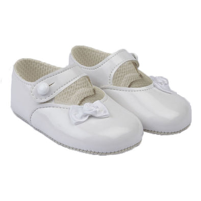 Baypods B616 in white patent - Early Days Baby and Toddler Shoes for Boys and Girls