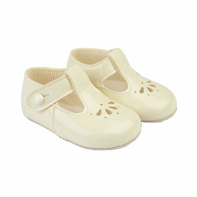 Baypods B617 in ivory patent - Early Days Baby and Toddler Shoes for Boys and Girls