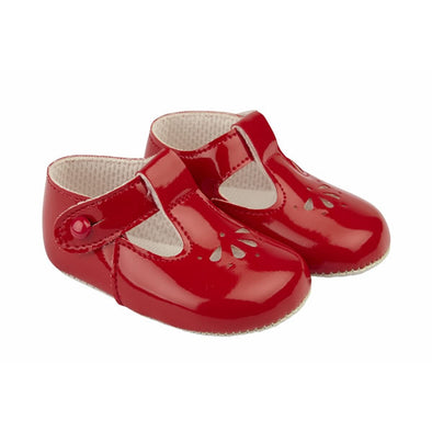 Baypods B617 in red patent - Early Days Baby and Toddler Shoes for Boys and Girls