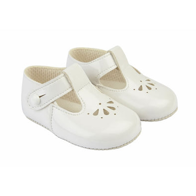 Baypods B617 in white patent - Early Days Baby and Toddler Shoes for Boys and Girls