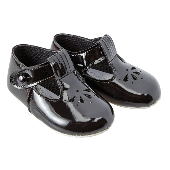 Baypods B617 in black patent - Early Days Baby and Toddler Shoes for Boys and Girls