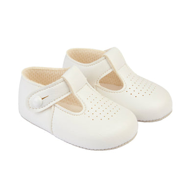 Baypods B625 in white - Early Days Baby and Toddler Shoes for Boys and Girls