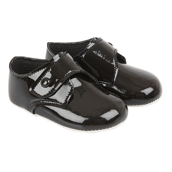 Baypods B626 in black patent - Early Days Baby and Toddler Shoes for Boys and Girls