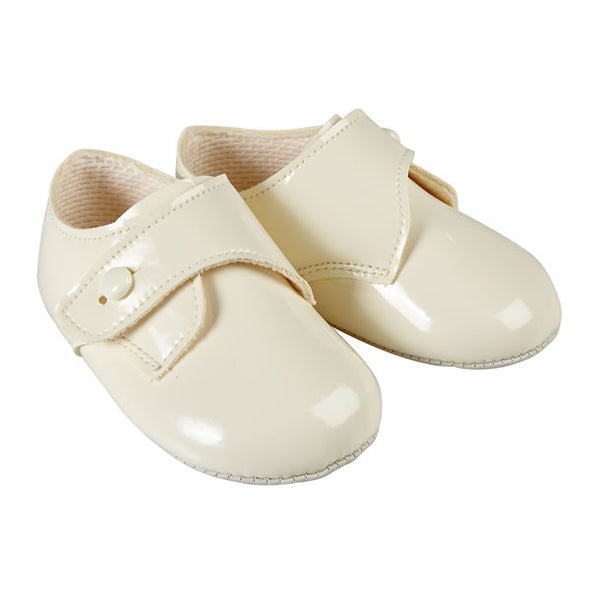 Baypods B626 in ivory patent - Early Days Baby and Toddler Shoes for Boys and Girls