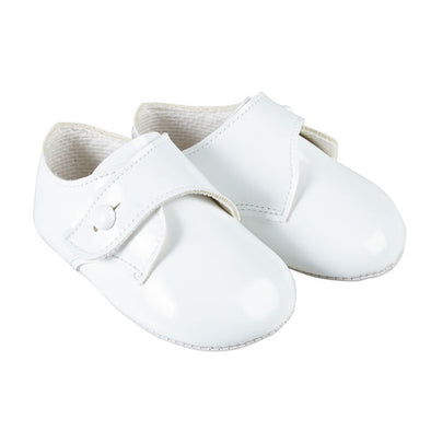 Baypods B626 in white patent - Early Days Baby and Toddler Shoes for Boys and Girls
