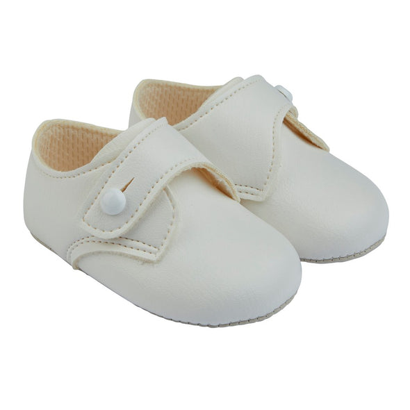 Baypods B626 in white - Early Days Baby and Toddler Shoes for Boys and Girls